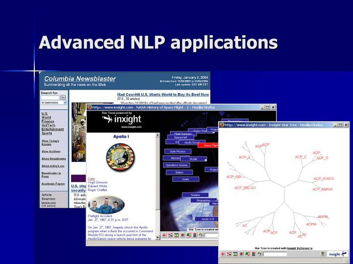 Advanced NLP applications