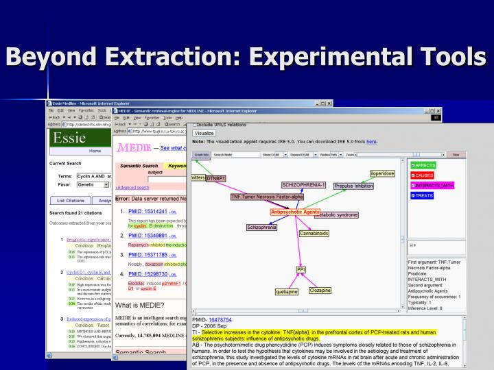 Beyond Extraction: Experimental Tools