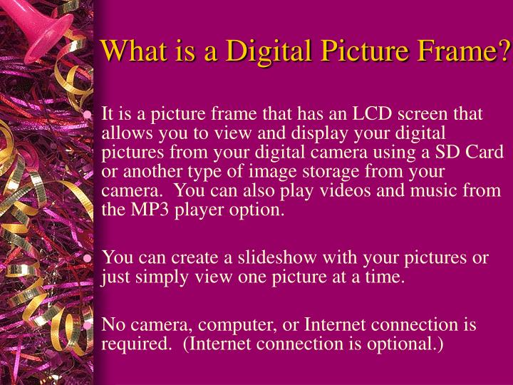 What is a digital picture frame
