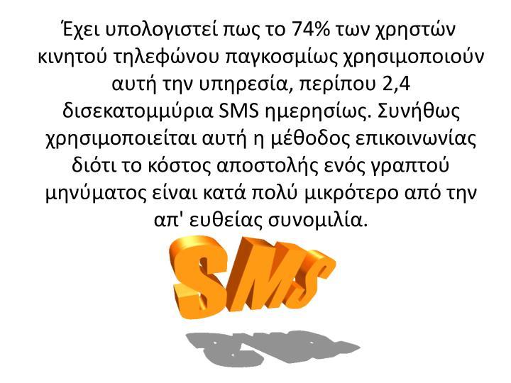 74%         ,  2,4  SMS .