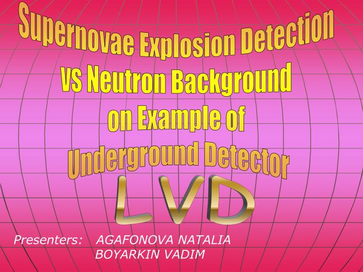 Supernovae Explosion Detection