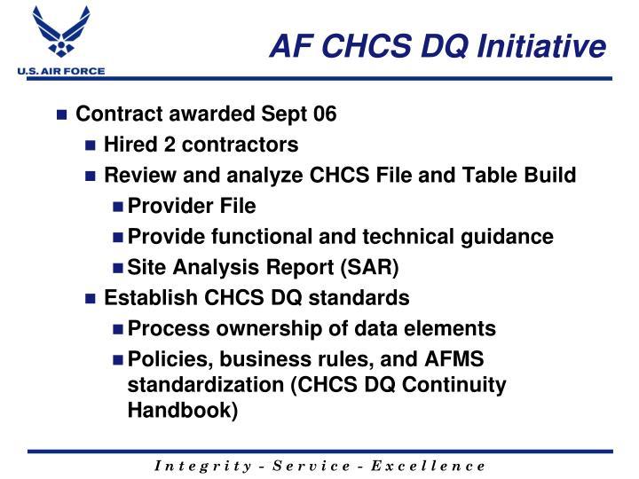 AF CHCS DQ Initiative