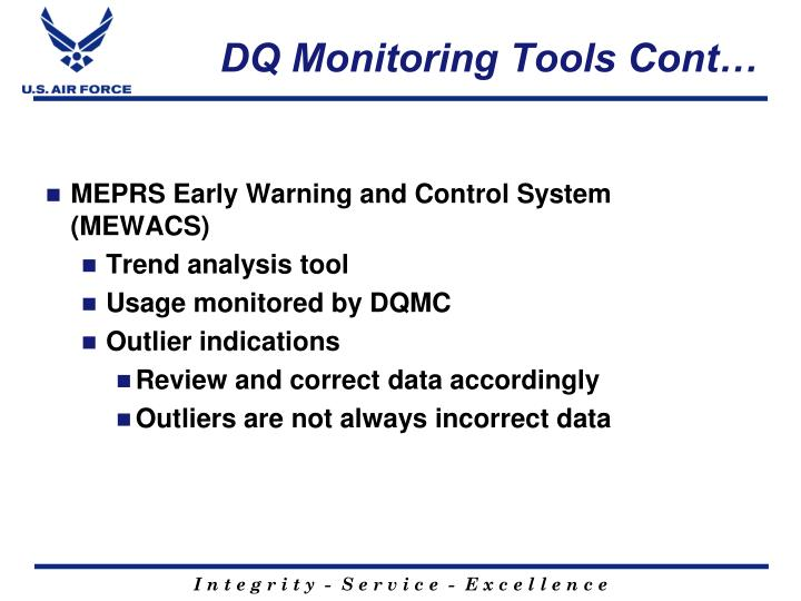 DQ Monitoring Tools Cont…