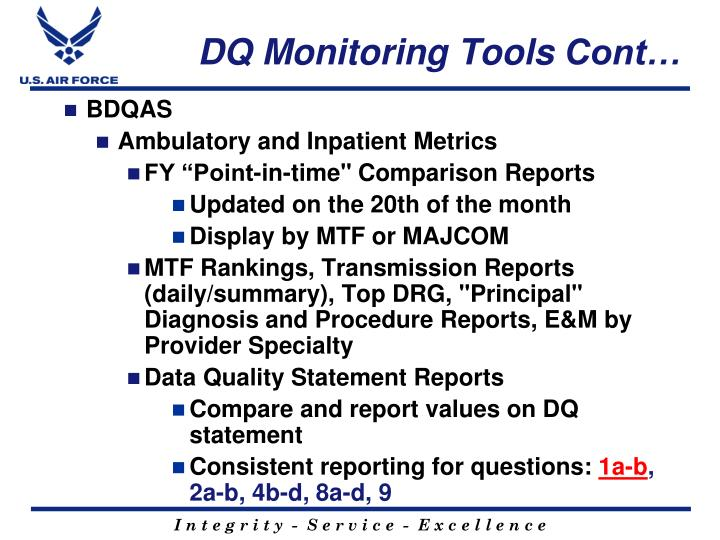 DQ Monitoring Tools