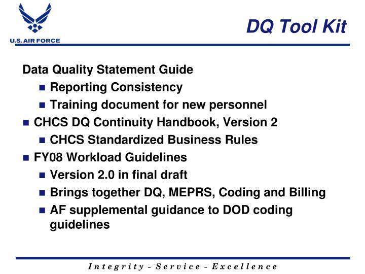 DQ Tool Kit