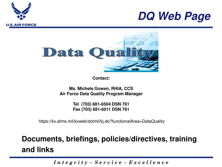 DQ Web Page