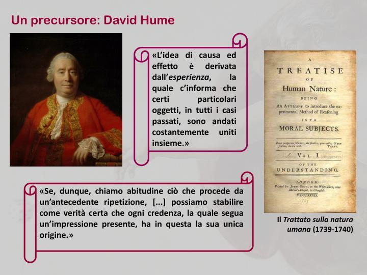 Un precursore: David Hume