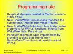 programming note