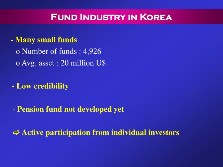 Fund Industry in Korea