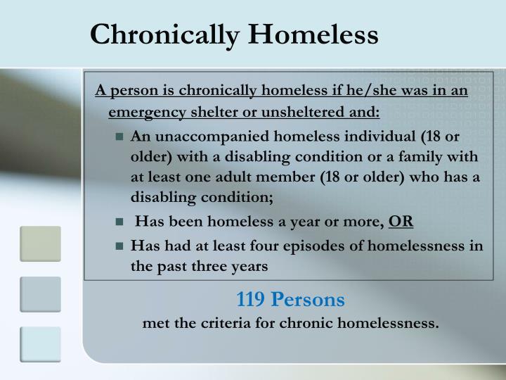 Chronically Homeless