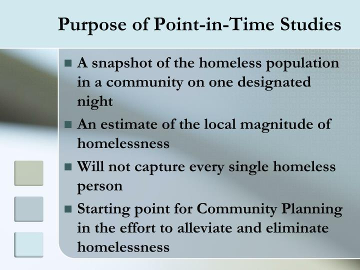 Purpose of Point-in-Time Studies