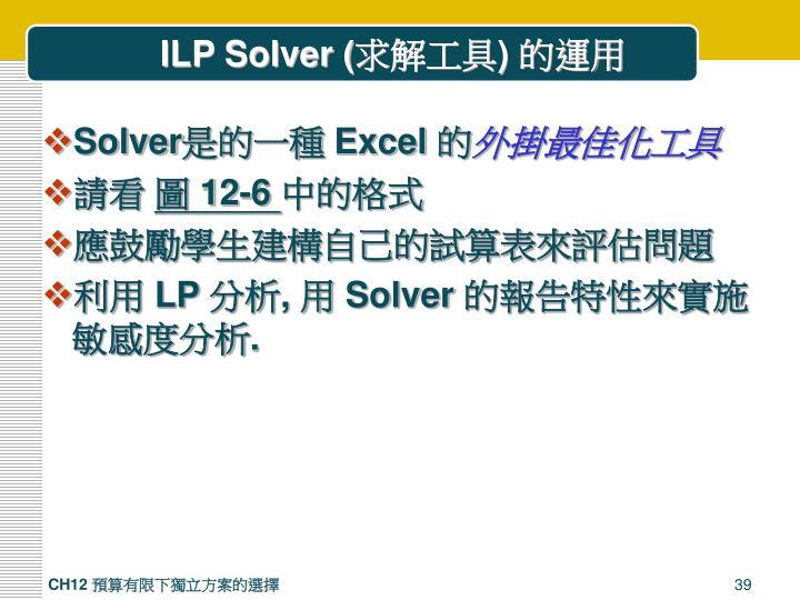 ILP Solver (