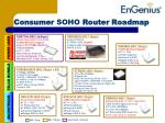consumer soho router roadmap