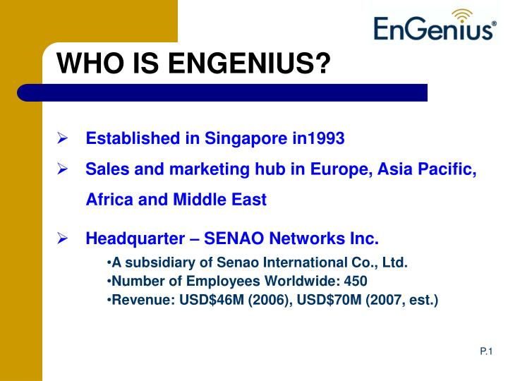 WHO IS ENGENIUS?