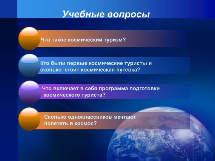 Учебные вопросы