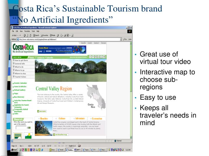 Costa Rica's Sustainable Tourism brand