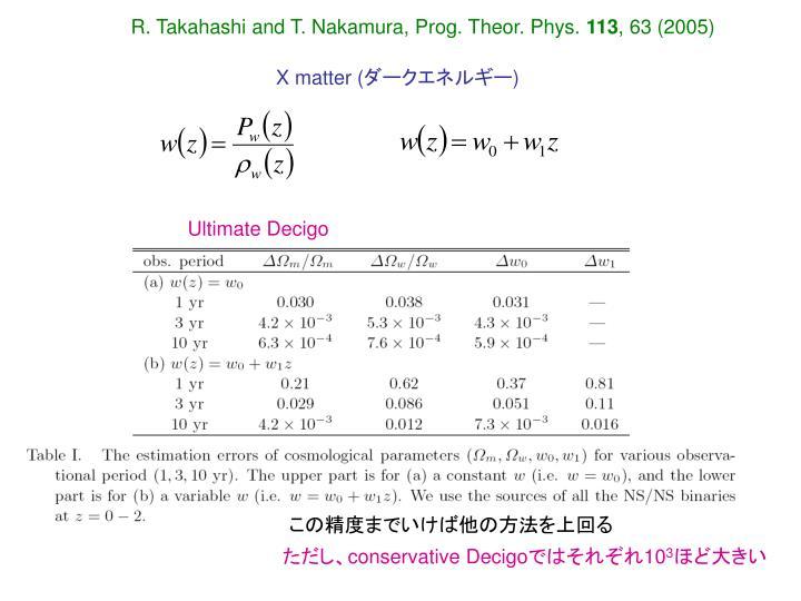 R. Takahashi and T. Nakamura, Prog. Theor. Phys.