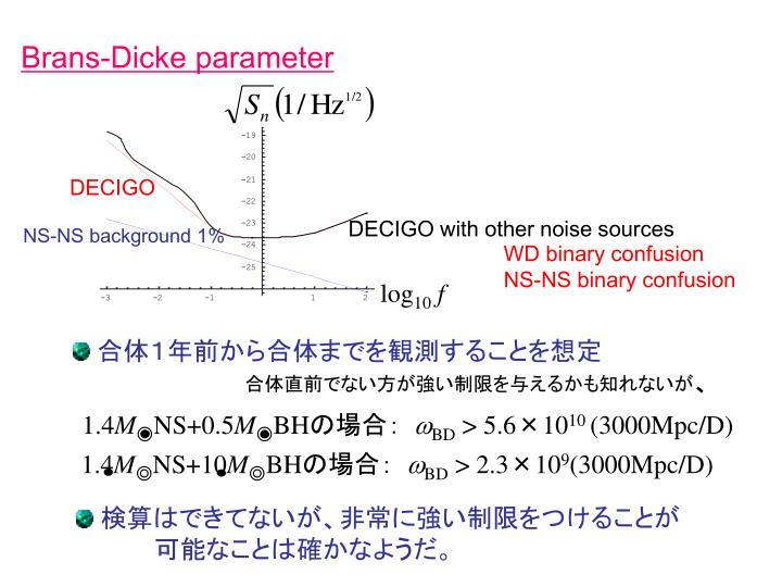 Brans-Dicke parameter