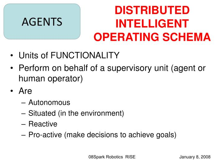 DISTRIBUTED INTELLIGENT OPERATING SCHEMA