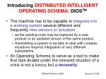 introducing distributed intelligent operating schema dios tm