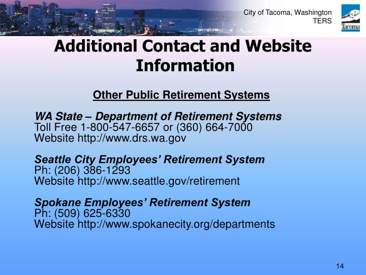 Additional Contact and Website
