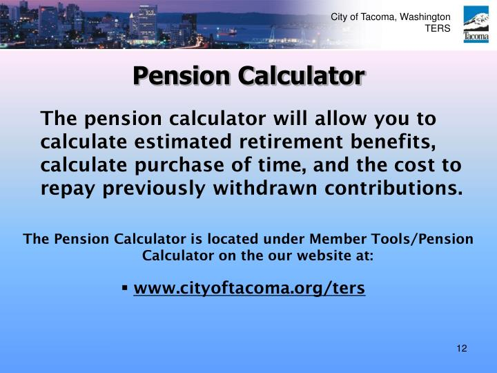 Pension Calculator