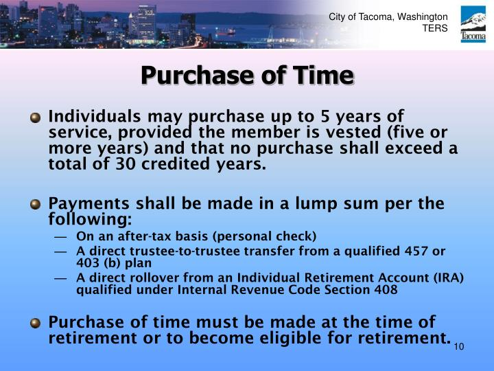Purchase of Time