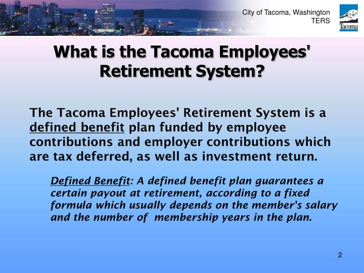 What is the tacoma employees retirement system