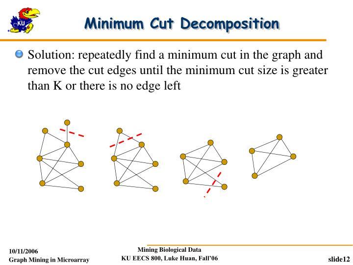 Minimum Cut Decomposition