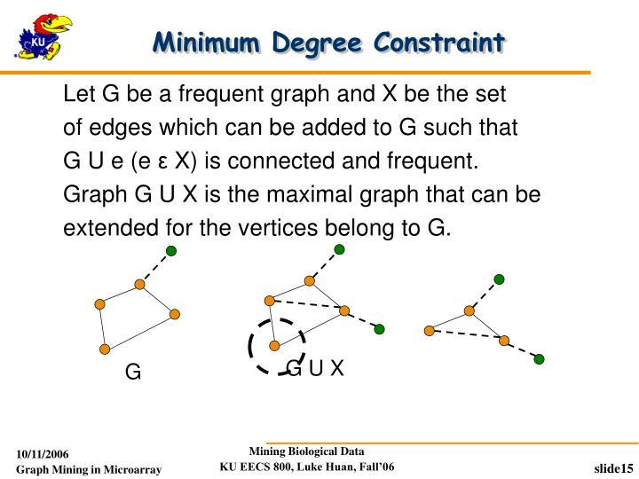 Minimum Degree Constraint