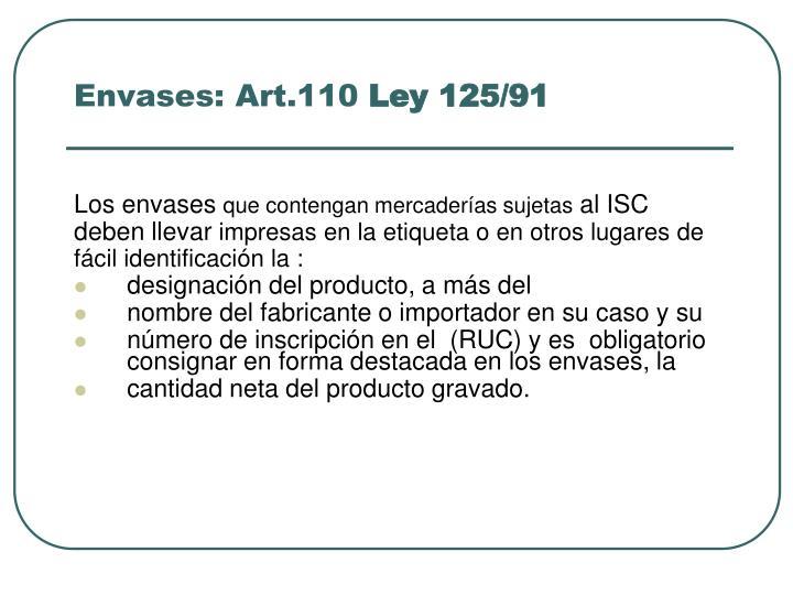 Envases: Art.110