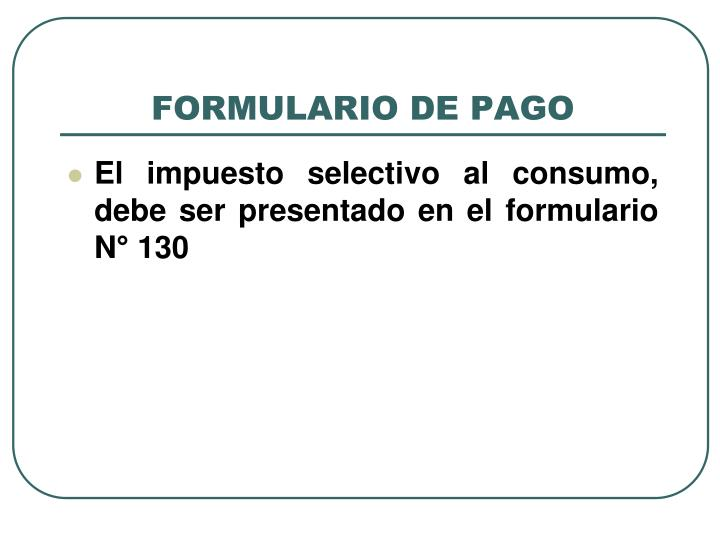 FORMULARIO DE PAGO