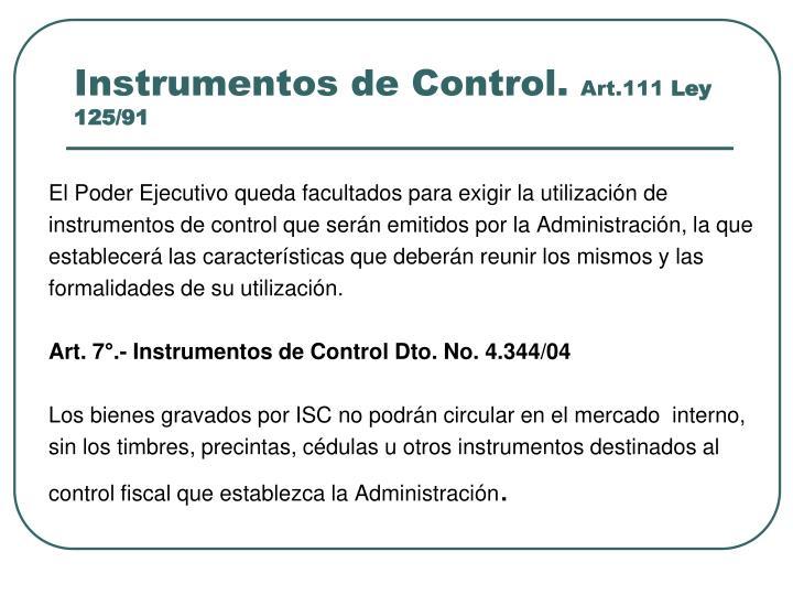 Instrumentos de Control.