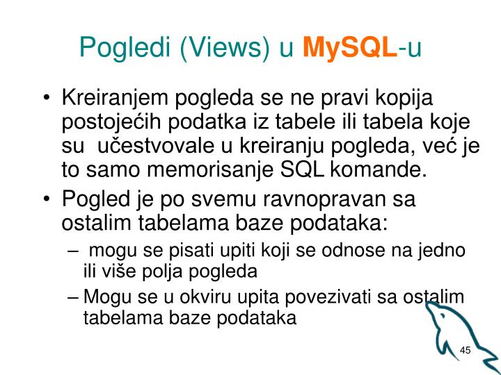 Pogledi (Views) u