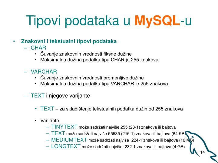 Tipovi podataka u