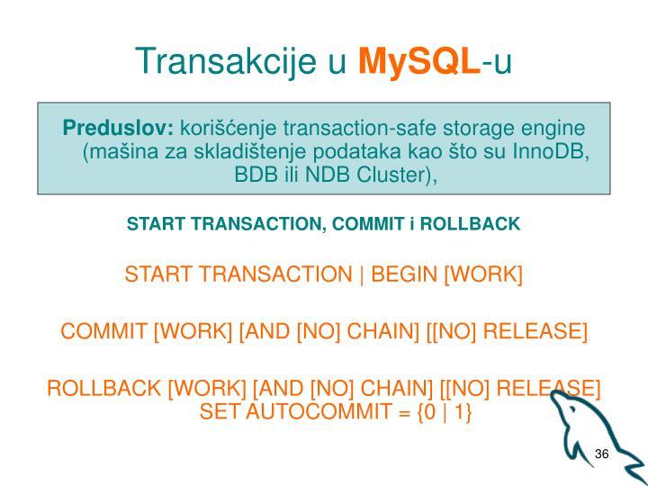 Transakcije u
