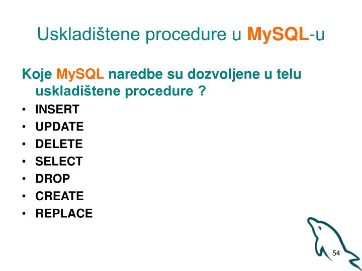 Uskladištene procedure