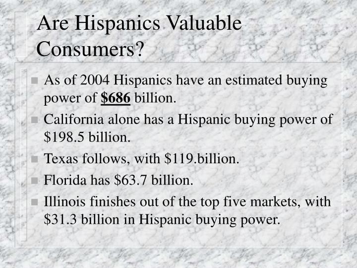 Are Hispanics Valuable Consumers?