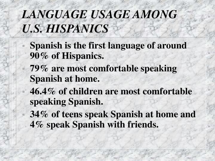 LANGUAGE USAGE AMONG U.S. HISPANICS