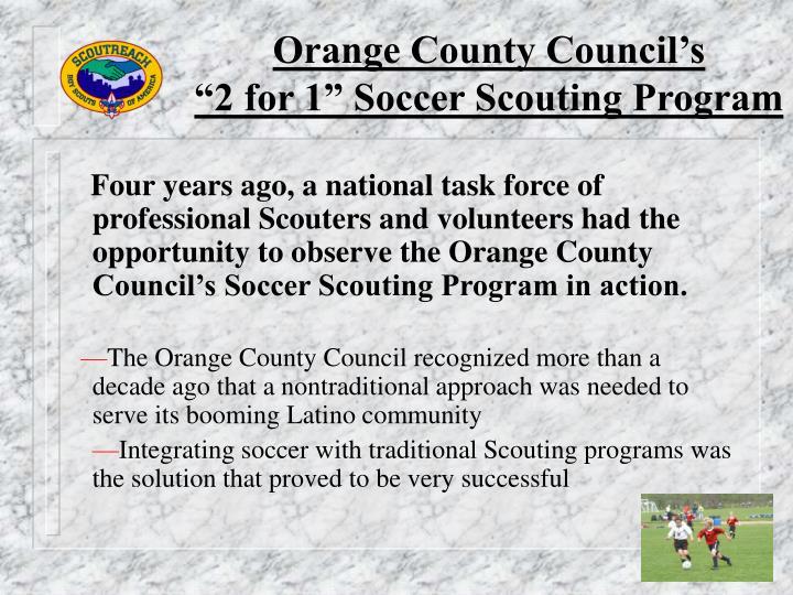 Orange County Council's