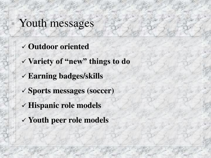 Youth messages