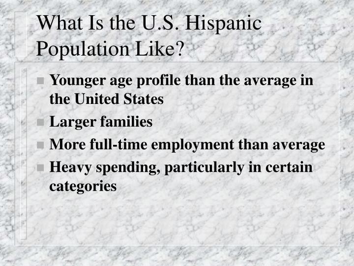 What Is the U.S. Hispanic Population Like?