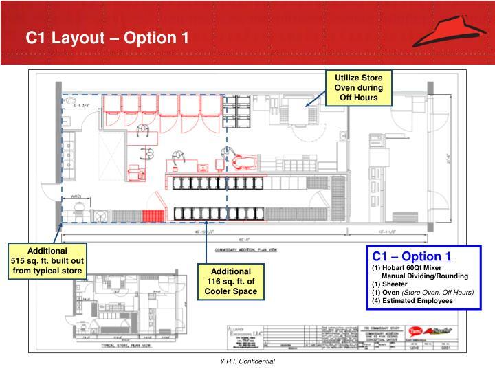 C1 Layout – Option 1