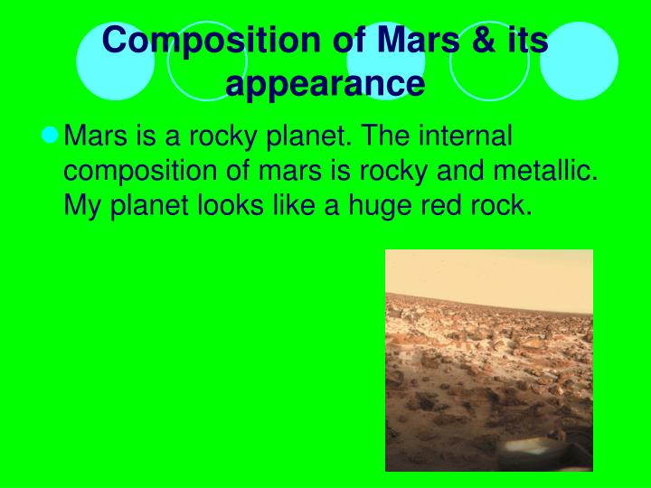 Composition of Mars & its