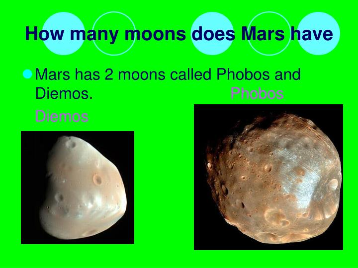 How many moons does Mars have