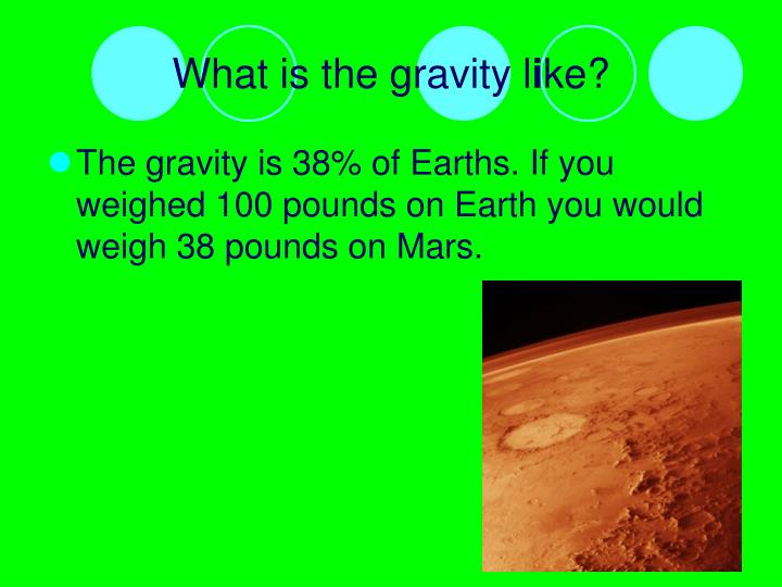 What is the gravity l