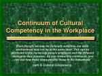 continuum of cultural competency in the workplace