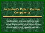 individual s path to cultural competency