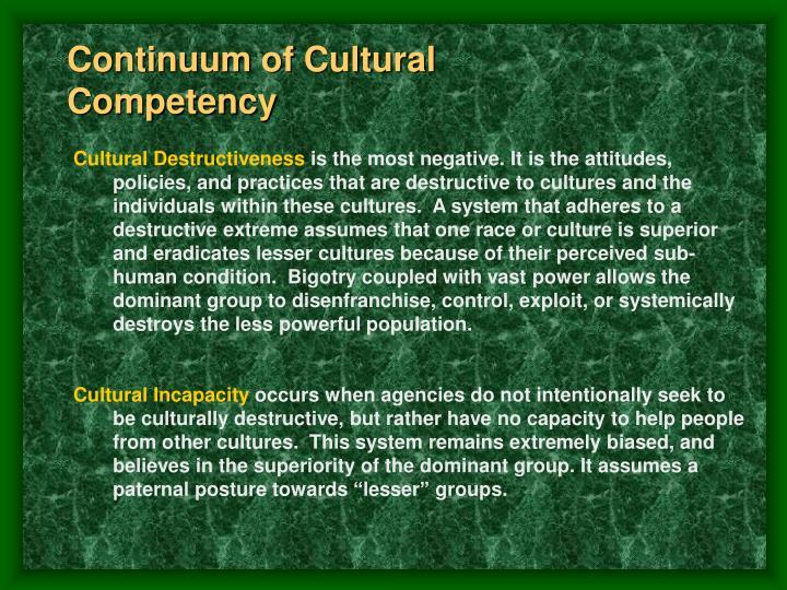 Continuum of Cultural