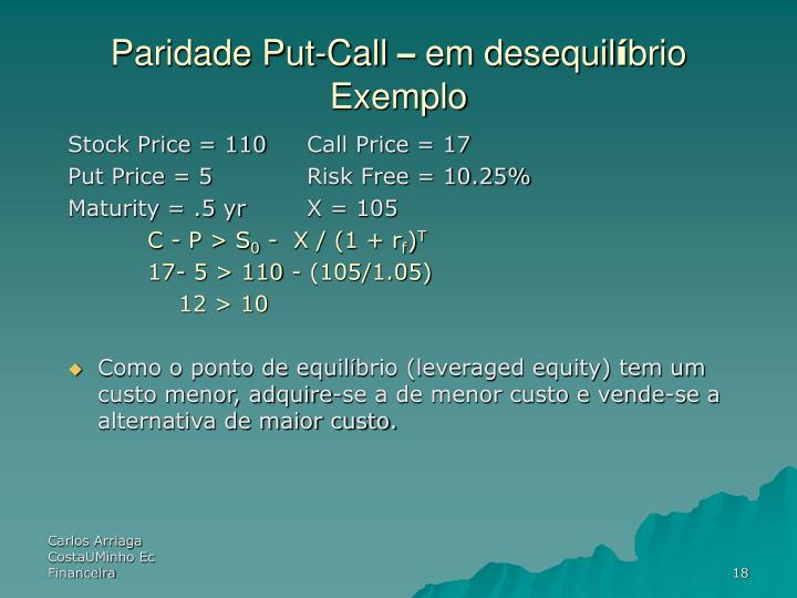 Paridade Put-Call